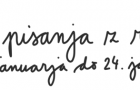 Teden pisanja z roko 20. 1. – 24. 1. 2020